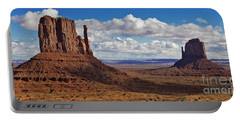 Portable Battery Charger featuring the photograph East And West Mittens by Jerry Fornarotto