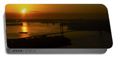 East River Sunrise Portable Battery Charger by Greg Reed