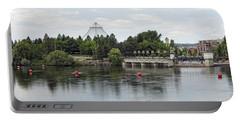 East Riverfront Park And Dam - Spokane Washington Portable Battery Charger