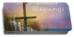 Easter Blessings Cross Portable Battery Charger