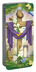 Easter Cross Portable Battery Charger