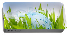 Easter Egg In Grass Portable Battery Charger