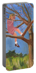 Easter In The Apple Tree Portable Battery Charger