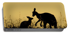 Eastern Grey Kangaroo And Joey Mount Portable Battery Charger