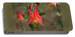 Wild Columbine Portable Battery Charger by William Tanneberger