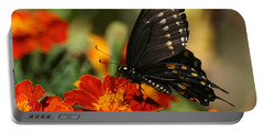 Eastern Swallowtail On Marigold Portable Battery Charger