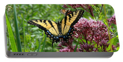 Eastern Tiger Swallowtail On Joe Pye Weed Portable Battery Charger