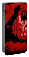 Portable Battery Charger featuring the painting Eater by Dale Loos Jr