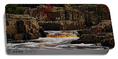 Waterfall Under Colored Leaves Portable Battery Charger