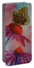 Echinacea Fritillaria Portable Battery Charger