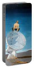 Portable Battery Charger featuring the painting Echoes by Lazaro Hurtado