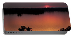 Eclipse Of The Sunset Portable Battery Charger by Jason Politte