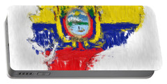 Ecuador Painted Flag Map Portable Battery Charger by Antony McAulay