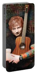 Ed Sheeran And Song Titles Portable Battery Charger by Tony Rubino