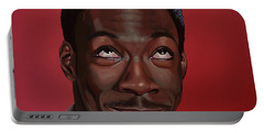 Eddie Murphy Painting Portable Battery Charger by Paul Meijering