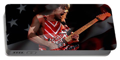 Eddie Van Halen Portable Battery Charger by Marvin Blaine