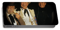 Portable Battery Charger featuring the photograph Edgar Buchanan Chills Wills  Johnny Cash Porch Old Tucson Arizona 1971-2008 by David Lee Guss