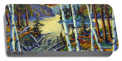 Edge Of The Lake By Prankearts Portable Battery Charger