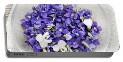 Edible Violets  Portable Battery Charger