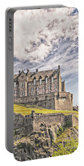 Edinburgh Castle Painting Portable Battery Charger by Antony McAulay