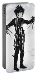 Edward Scissorhands - Johnny Depp Portable Battery Charger by Ayse Deniz