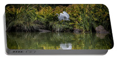 Portable Battery Charger featuring the photograph Egret At The Lake by Chris Lord