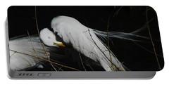 Egret Bird City At Avery Island Louisiana Portable Battery Charger