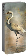 Egret Portable Battery Charger by Daniel Eskridge