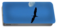 Portable Battery Charger featuring the photograph Egret Flight by Charlotte Schafer