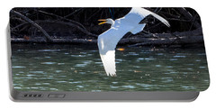 Egret In Flight Portable Battery Charger