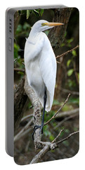 Egret On A Limb Portable Battery Charger