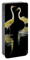 Portable Battery Charger featuring the photograph Egret Pair by Jerry Fornarotto