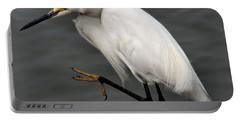 Egret Portable Battery Charger by Roger Becker