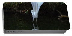 Portable Battery Charger featuring the photograph Egret Take Off by Charlotte Schafer