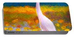 Egret Water Bird Portable Battery Charger by Jan Matson