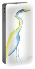Egret's Glance Portable Battery Charger by Frank Bright