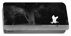 Portable Battery Charger featuring the photograph Egret's Shadow by Frank Bright