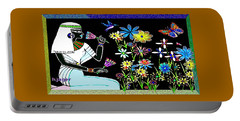 Portable Battery Charger featuring the digital art Egyptian Flower  Garden by Hartmut Jager