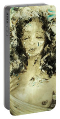 Portable Battery Charger featuring the painting Egyptian Goddess by Laurie L