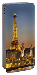 Eiffel At Twilight Portable Battery Charger
