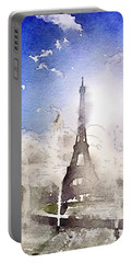 Eiffel During Summer Portable Battery Charger