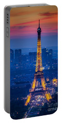 Eiffel Tower At Twilight Portable Battery Charger