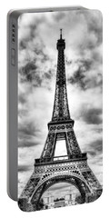 Eiffel Tower In Paris 3 Bw Portable Battery Charger