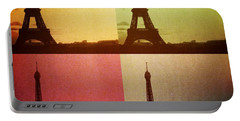 Eiffel Tower In Sunset Portable Battery Charger