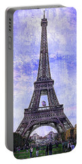 Portable Battery Charger featuring the photograph Eiffel Tower Paris by Kathy Churchman