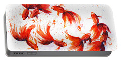 Eight Dancing Goldfish  Portable Battery Charger