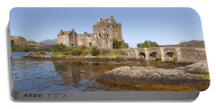 Eilean Donan Castle Portable Battery Charger by Eunice Gibb