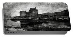 Eilean Donan Castle In Scotland Bw Portable Battery Charger