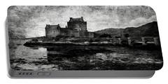 Eilean Donan Castle In Scotland Bw Portable Battery Charger