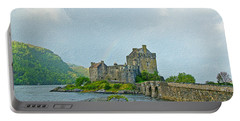 Eilean Donan Castle Textured 2 Portable Battery Charger